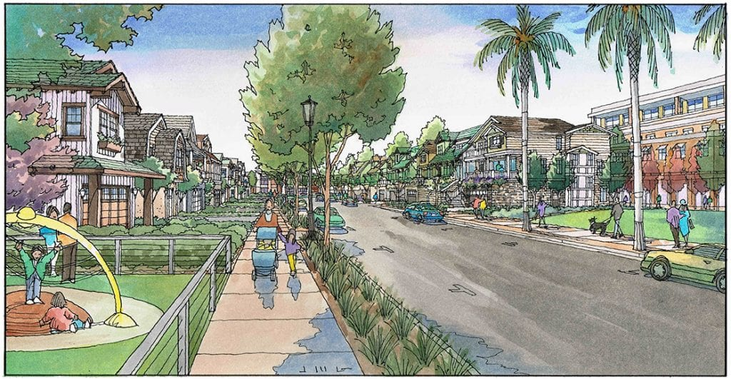 Watercolor Renderings of Large San Jose Mixed Use Project