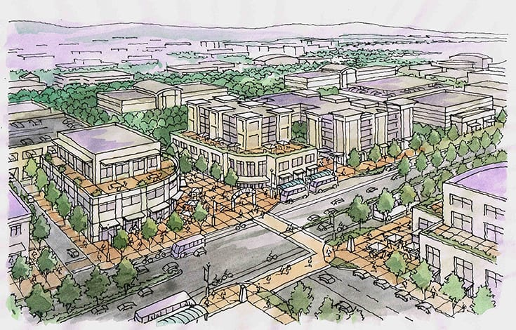 Illustration of Master Planning for Mountain View, California